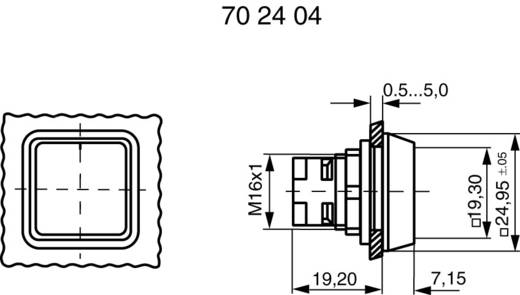 Drucktaster Betätiger flach Blau RAFI 130070001/1607 1 St.