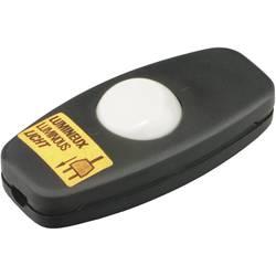 Šňůrový vypínač interBär , 2pólový, podsvícený, 250 V/AC, 2 A, černá/bílá