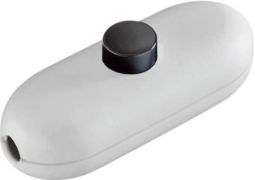 Schnurschalter Weiß, Schwarz 1 x Aus/Ein 2 A interBär 1 St.