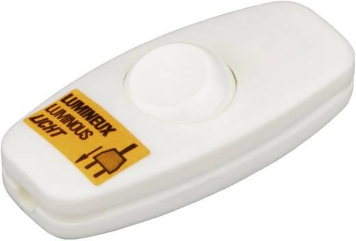 Schnurschalter Weiß 2 x Aus/Ein 2 A interBär 5052-108.01 1 St.