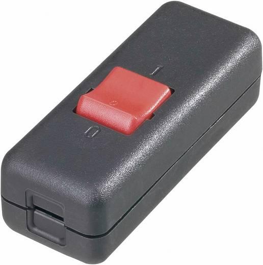 Schnurschalter Schwarz, Rot 2 x Aus/Ein 10 A interBär 8010-004.01 1 St.