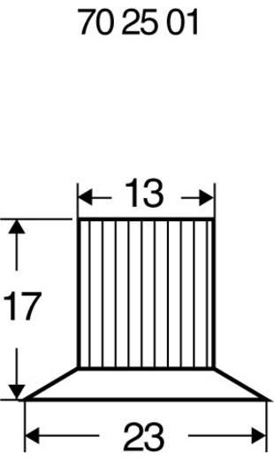 Drehknopf Schwarz (Ø x H) 23 mm x 17 mm 23/12 1 St.