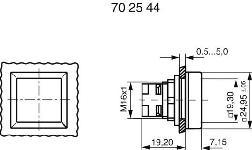 Drucktaster anreihbar Gelb RAFI 130070201/1403 1 St.
