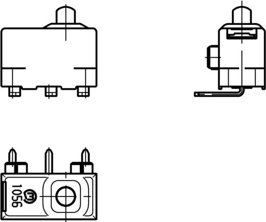 Marquardt Mikroschalter 1056.3352 24 V/DC 2 A 1 x Ein/(Ein) IP40 tastend 1 St.