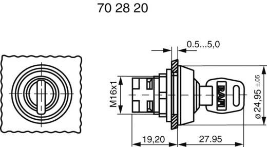 Schlüsselschalter Schwarz 1 x 90 ° RAFI RAFIX 16 1.30076.121 1 St.