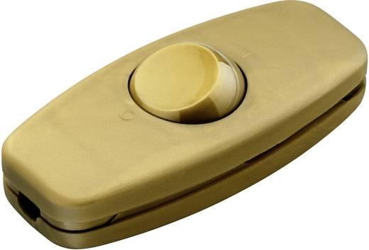 Schnurschalter Gold 2 x Aus/Ein 2 A interBär 5052-010.01 1 St.
