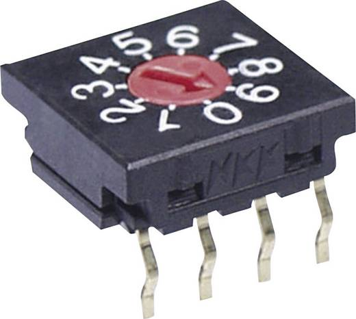 NKK Switches FR01FR10H-S Drehschalter 50 V/DC 0.1 A Schaltpositionen 10 1 St.
