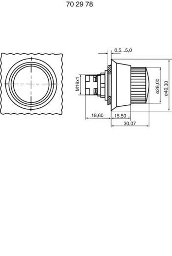 Not-Aus-Schalter überlistungssicher Gelb (Bund) Drehentriegelung RAFI RAFIX 16 1.30074.821 1 St.