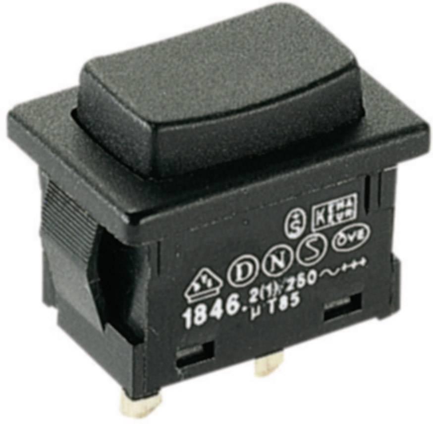 Ein Marquardt 1846.3201 Drucktaster 250 V//AC 2 A 1 x Aus// IP40 tastend 1 St.