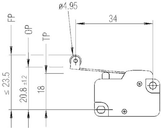 Mikroschalter 250 V/AC 10 A 1 x Ein/(Ein) Marquardt 1006.1511 tastend 1 St.
