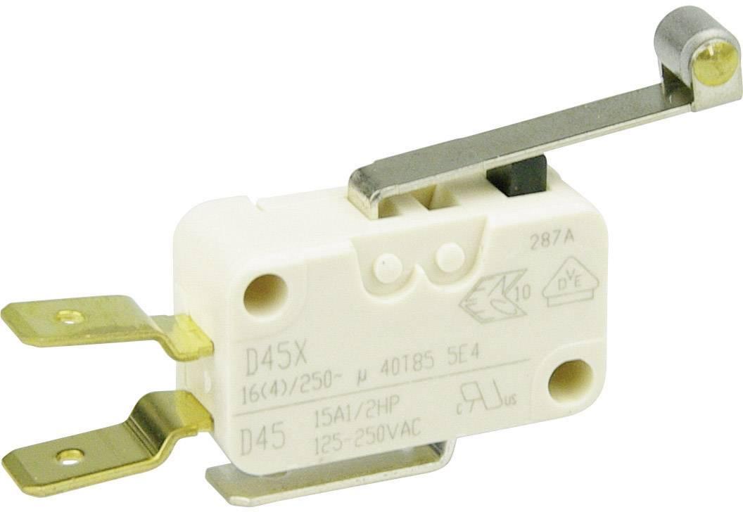 Ein tastend 1 S Cherry Switches Mikroschalter D449-V3AA 250 V//AC 10 A 1 x Ein//