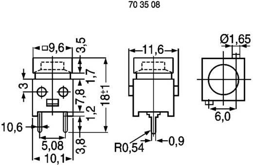 Drucktaster 100 V 1 A 1 x Aus/(Ein) DS660S-S BK tastend 1 St.