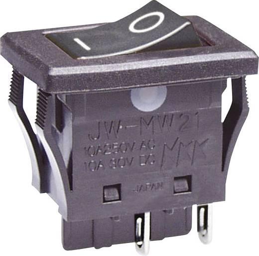 Wippschalter 250 V/AC 10 A 2 x Aus/Ein NKK Switches JWMW21RA1A rastend 1 St.