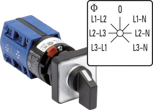 Voltmeter Umschalter 10 A Grau, Schwarz Kraus & Naimer CG4 A007-624 FS2 1 St.