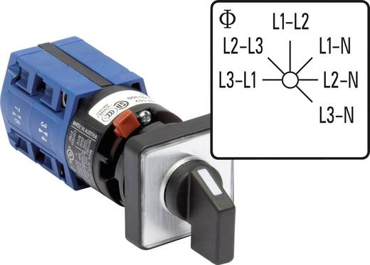 Voltmeter Umschalter 10 A Grau, Schwarz Kraus & Naimer CG4 A025-620 FS2 1 St.