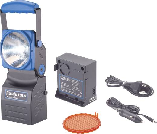 AccuLux 456481 Akku-Handscheinwerfer SL 5 Schwarz, Blau LED 4 h