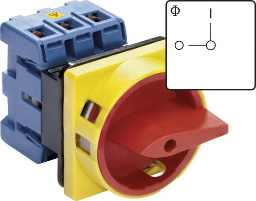 Kraus & Naimer KG32B T203/01 E Lasttrennschalter absperrbar 32 A 1 x 90 ° Rot, Gelb 1 St.