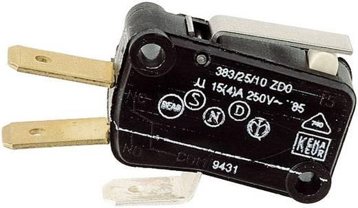 Mikroschalter 250 V/AC 15 A 1 x Ein/(Ein) 383/25/10 ZDO tastend 1 St.