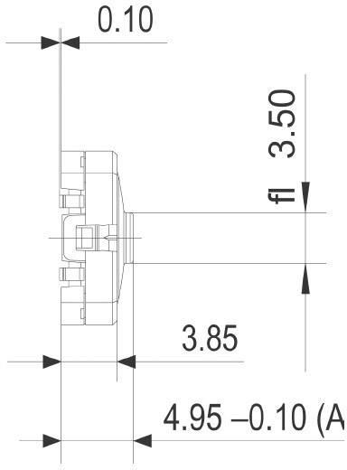 Drucktaster 42 V DC/AC 0.1 A 1 x Aus/(Ein) RAFI 114001503 tastend 1 St.