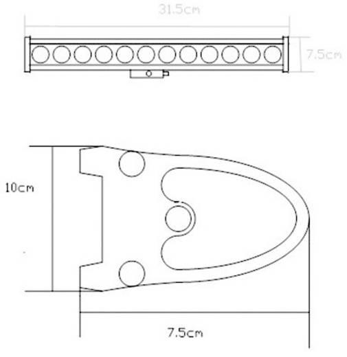 Arbeitsscheinwerfer SecoRüt 60 W 95560 12 V, 24 V (B x H x T) 315 x 100 x 75 mm 3360 lm 6000 K