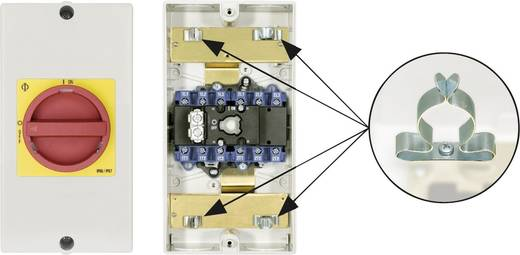 Reparaturschalter absperrbar 1 x 90 ° Rot, Gelb Kraus & Naimer KG64B T206/D-A066 KL71V 1 St.