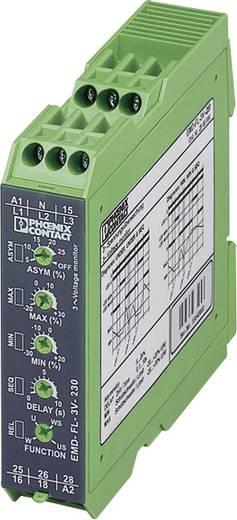 Überwachungsrelais 2 Wechsler 1 St. Phoenix Contact EMD-FL-3V-230 3-Phasen, Spannung, Asymmetrie, Unterspannung, Phasen