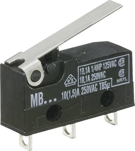 Mikroschalter 250 V/AC 10 A 1 x Ein/(Ein) Hartmann MBF5B tastend 1 St.