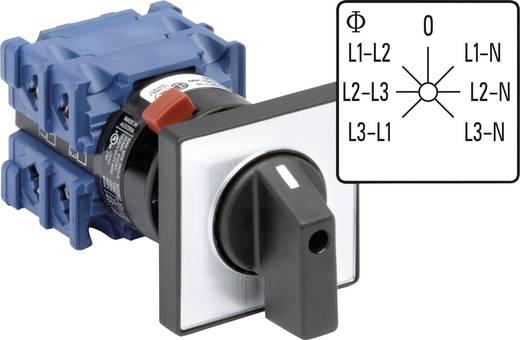 Voltmeter Umschalter 360 ° Grau, Schwarz Kraus & Naimer CH10 A007-624 FT2 1 St.