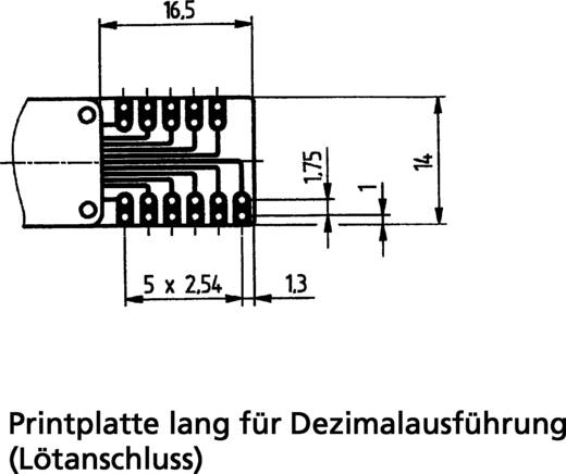 Kodierschalter Dezimal 0-9 Schaltpositionen 10 Hartmann PICO-DE-111AL2 1 St.