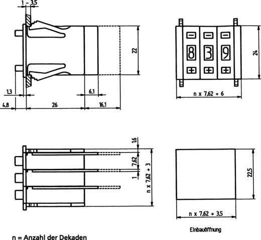 Kodierschalter BCD 0-9 Schaltpositionen 10 Hartmann ZWEIT.-CODIERSCHALTER 1 St.