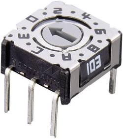 Kódovací spínač Hartmann P36 103, hexadecimálne, 0-9 / A-F, počet pozícií prepínača 16, 1 ks