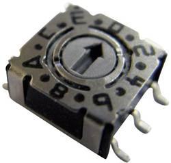 Kódovací spínač Hartmann P36S 101, BCD, 0-9, počet pozícií prepínača 10, 1 ks