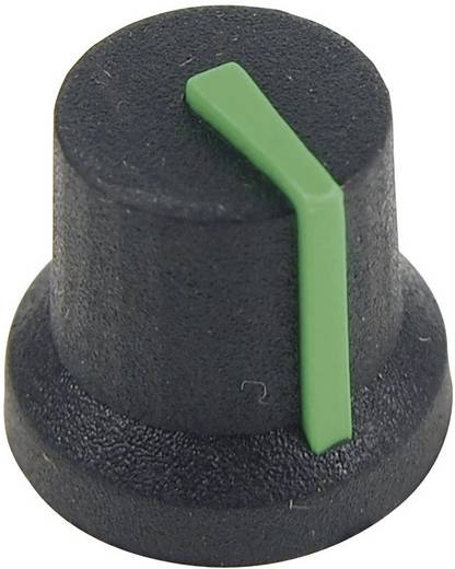 Cliff CL170847CR Drehknopf Schwarz-Grün (Ø x H) 16.8 mm x 14.5 mm 1 St.