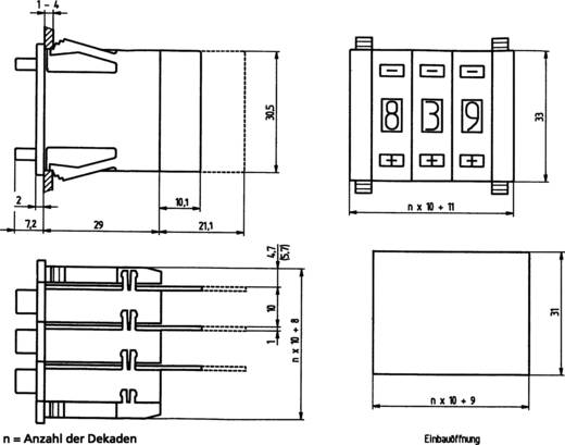 Kodierschalter BCD 0-9 Schaltpositionen 10 Hartmann DPS10-131-AK-2 1 St.