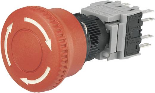 Not-Aus-Schalter 250 V/AC 3 A 2 Öffner, 2 Schließer TRU Components LAS1-BY-22TSB IP40 1 St.