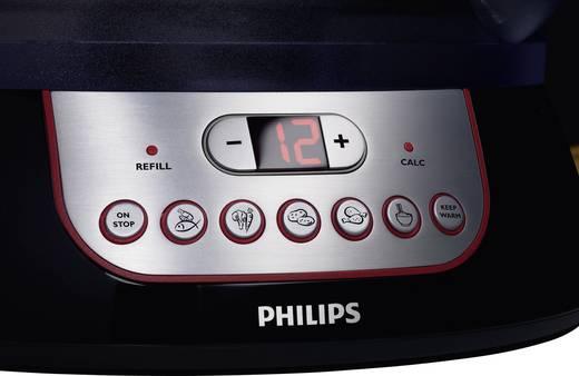 Dampfgarer mit externem Wasserzulauf Philips HD9140/91 Schwarz, Metall, Rot