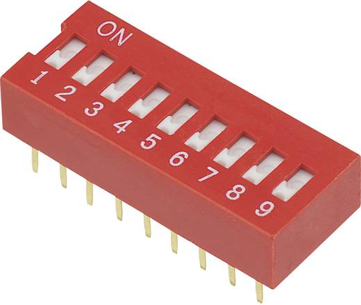 DIP-Schalter Polzahl 9 Slide-Type TRU COMPONENTS DSR-09 1 St.