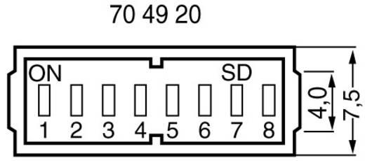 DIP-Schalter Polzahl 10 Slide-Type SD 10 1 St.