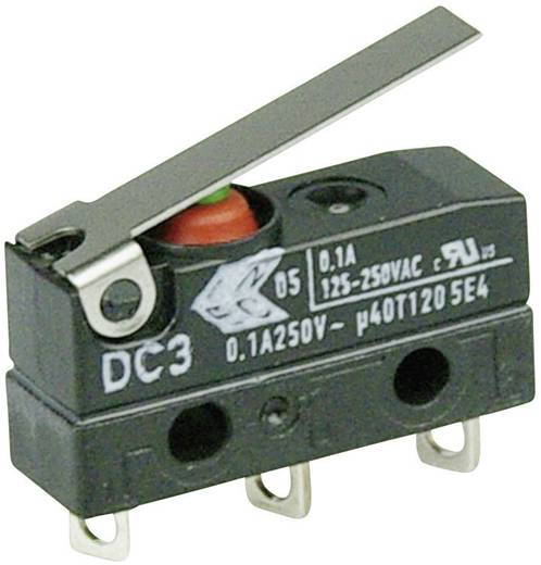 Mikroschalter 250 V/AC 0.1 A 1 x Ein/(Ein) Cherry Switches DC3C-A1LB IP67 tastend 1 St.