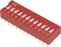 Image of DIP-Schalter Polzahl 12 Slide-Type TRU COMPONENTS DSR-12 1 St.