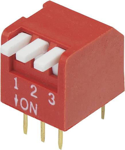 DIP-Schalter Polzahl 3 Piano-Type Conrad Components DP-03 1 St.