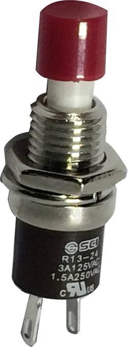 Bouton-poussoir à rappel SCI R13-24B1-05 RD 705071 250 V/AC 1.5 A 1 x On/(Off) momentané 1 pc(s)