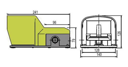 Pizzato Elettrica PX 10311-M2 Fußschalter 250 V/AC 6 A 1 Pedal mit Schutzhaube 1 Schließer, 1 Öffner IP65 1 St.