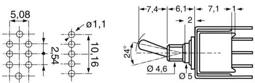 Kippschalter 48 V DC/AC 0.5 A 1 x Ein/Ein APEM TL36YO 104 rastend 1 St.