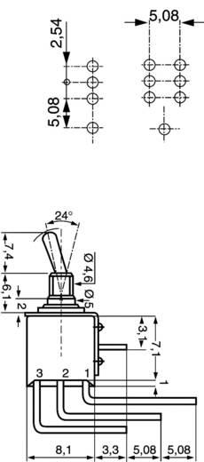 Kippschalter 48 V DC/AC 0.5 A 1 x Ein/Ein APEM TL36WW 104 rastend 1 St.