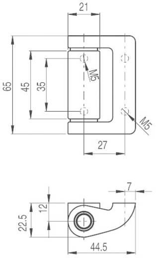 Zusatzscharnier Pizzato Elettrica HC LL 1 St.