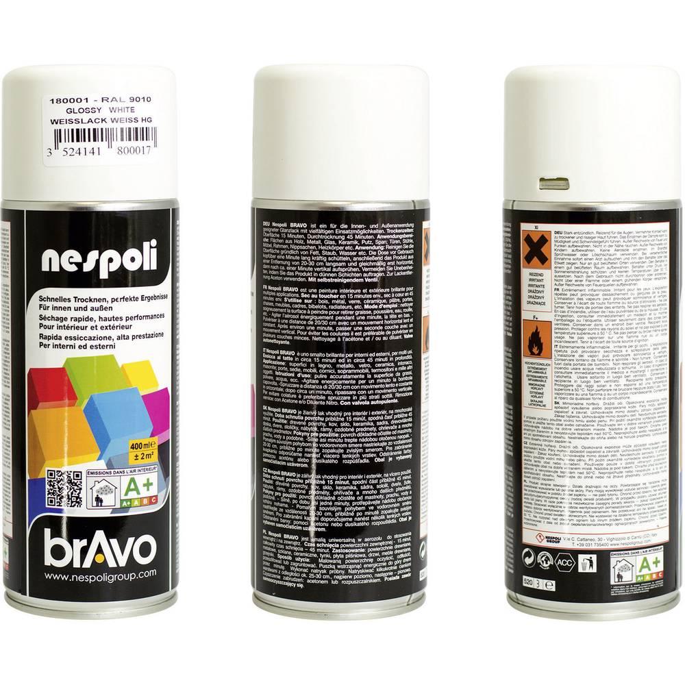 8180001 peinture en spray bravo brillante blanche 400 ml sur le site internet conrad 705239. Black Bedroom Furniture Sets. Home Design Ideas