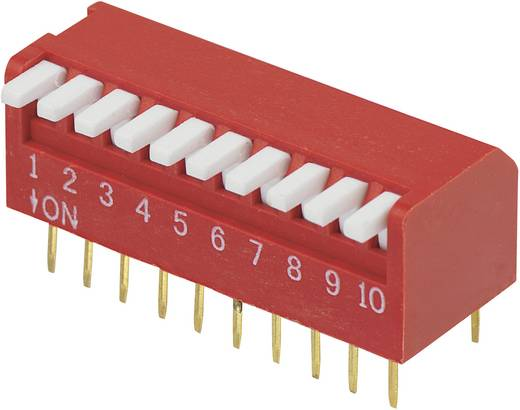 DIP-Schalter Polzahl 10 Piano-Type Conrad Components DP-10 1 St.