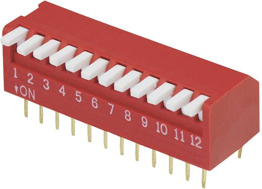 DIP-Schalter Polzahl 12 Piano-Type Conrad Components DP-12 1 St.