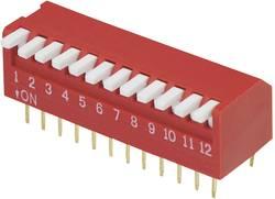 Image of DIP-Schalter Polzahl 12 Piano-Type TRU COMPONENTS DP-12 1 St.